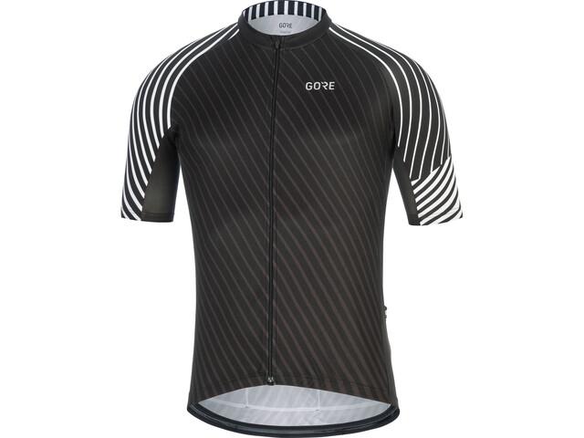 GORE WEAR C3 Kortærmet cykeltrøje Herrer, black/white